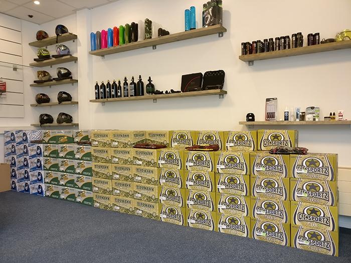 GoPaintball shop showroom foto