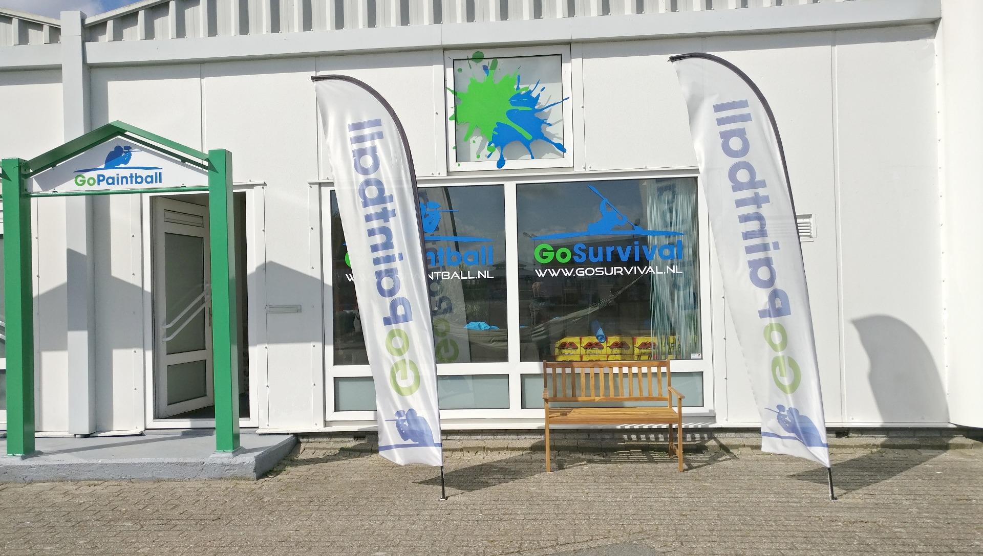 GoPaintball Shop winkel voorkant showroom