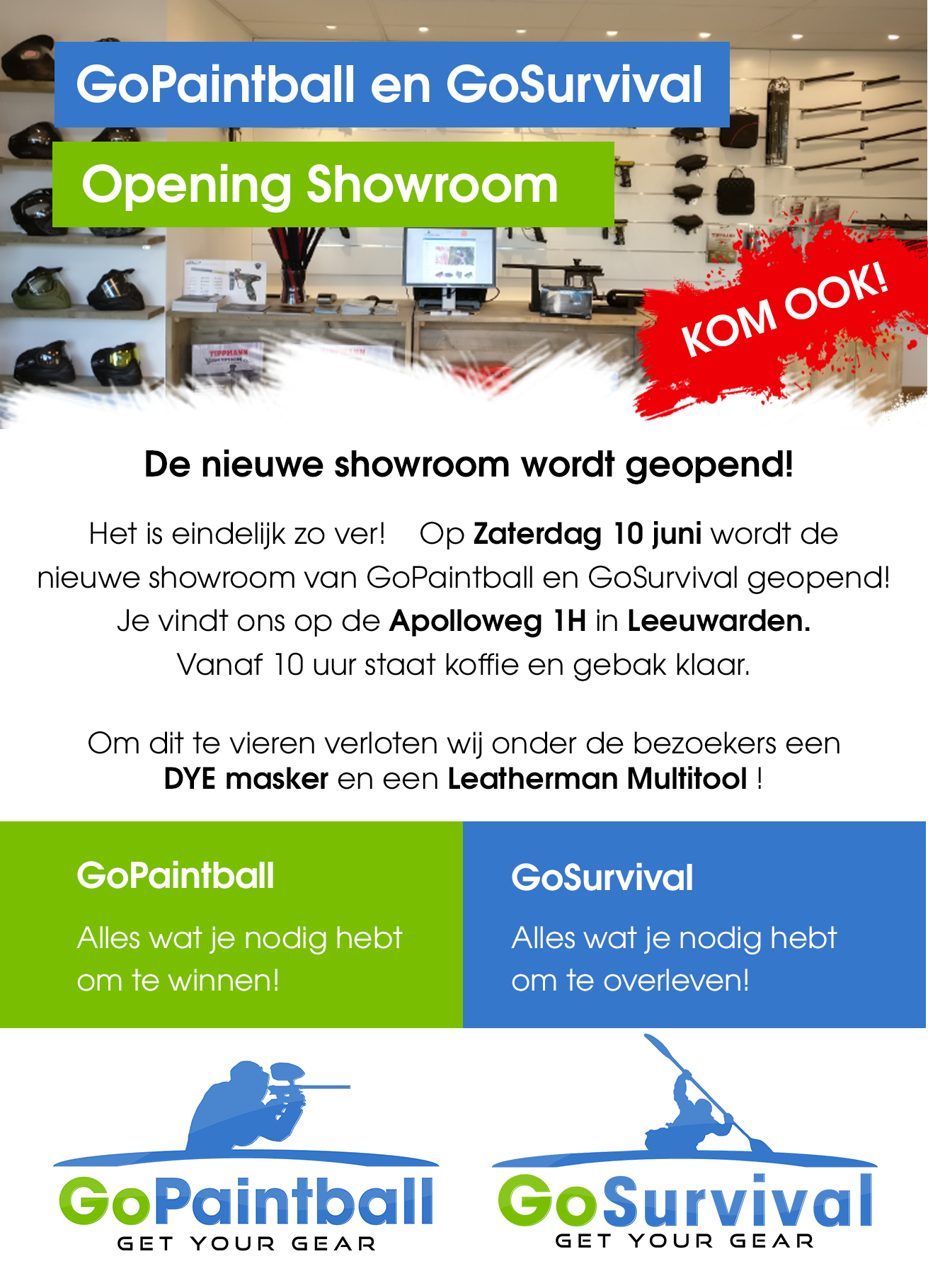 Opening GoPaintball Showroom