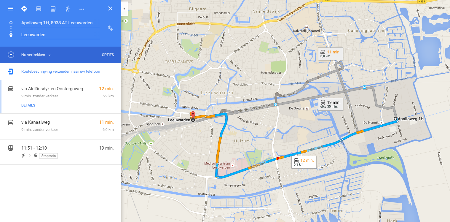 Route naar GoPaintball Shop