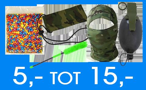 Paintball Cadeau tip 5 tot 15 euro